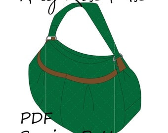 Kitty Rose Purse by Toriska, PDF sewing pattern, purse pattern, bag pattern, downloadable digital file, purse tutorial, diy purse