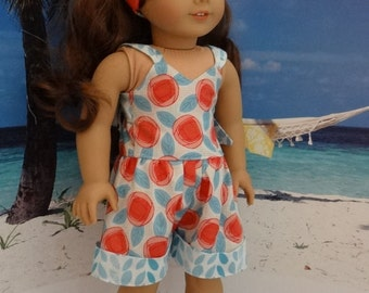 Retro romper for American Girl or similar 18 inch doll