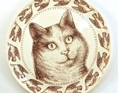Cat Lady Pattern plate, large