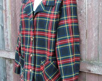 Tartan Plaid 49er Style Jacket ~ Banana Republic ~ Pure New Wool ~ Made in the UK