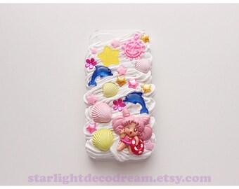 Summer Beach Chibiusa Sweets n' Cream iPhone 5S Deco Decoden Case for Kawaii Fairy Kei or Cute Style