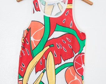 fruity printed tank top - S