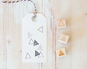 Geometric Triangles - Mini Rubber Stamps (Singles or Set)
