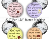 """Christian, 1.629"""" Circles, Bible Verse, Digital Collage Sheet, 1.25"""" Button Machine, Instant Download, Magnets, Pins, Badges, No.1"""