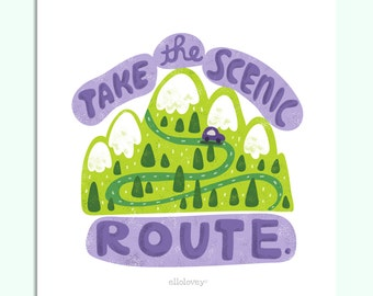 The Scenic Route - 8x10 Art Print