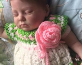 "Reborn Sleeping Baby Girl Newborn GEMMA Micro Rooted 19"" Baby Doll READY to SHIP Light Brown Hair 6 lb Infant Real Sweetheart Special"