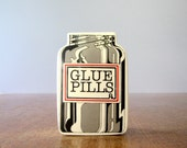 "Vintage Novelty ""Glue Pills"" Box Fitz and Floyd Humorous Gift"