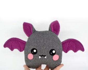 Bat plushie kawaii soft toy plush handmade vampire halloween cute scary