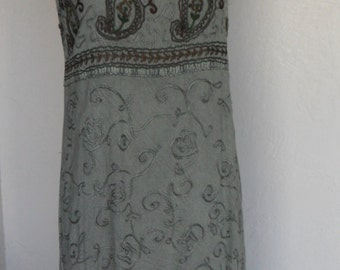 Vintage Dress Boho Embroidered Sundress Small