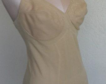 Vintage Body Briefer Shaper Size 38C Beige by Subtract Bodysuit