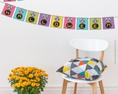 Happy Halloween Mexican Banner - Printable PDF - Instant DOWNLOAD - DIY Party decoration