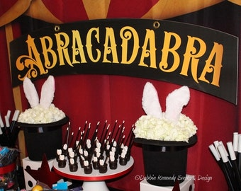 Magic Party Backdrop - Party Printable Sign - DIY Print - Custom backdrop for candy buffet, dessert buffet, dessert table, magical party