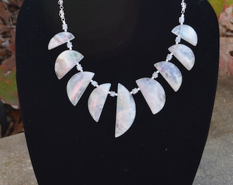 HUGE SALE: Moonstone Bib Statement Necklace