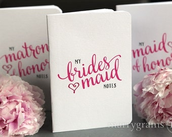 My Bridesmaid Notes - Adorable Wedding Planning Pocket Notebooks for Bridal Party, Bridesmaid Box Gift for Wedding Party, Asking Bridesmaids