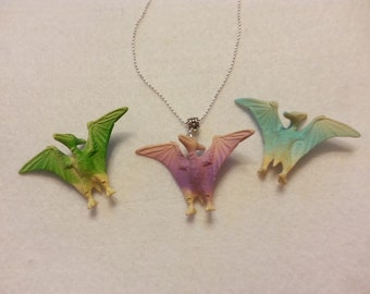 3D Retro  Realist Dinosaur Pendant Necklace
