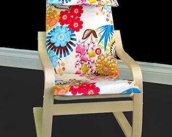 IKEA KIDS POÄNG Cushion Slipcover - Lou Lou Summer Totem Tart, Ready to Ship