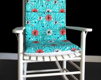 Rocking Chair Cushion Cover - Atomic Turquoise, Ready to Ship