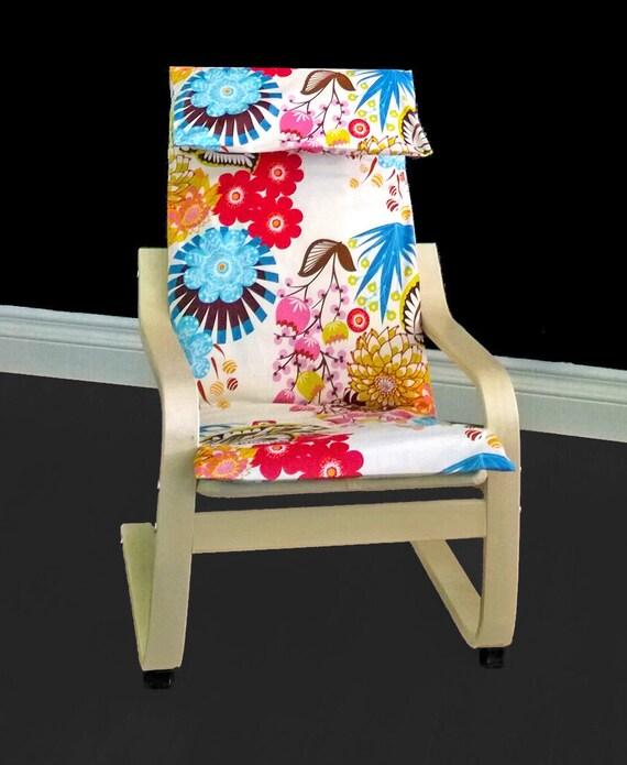 fleurs color es pour enfants ikea poang housse. Black Bedroom Furniture Sets. Home Design Ideas