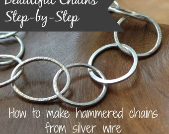 Beautiful Chains, step-by-step - how to make chain bracelets, a tutorial ebook