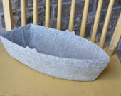 Unique Galvanized Zinc Boat, Nautical Decor, Decorator Object, Centerpiece, Planter, Beverage Holder, Ice Bucket, Centrum