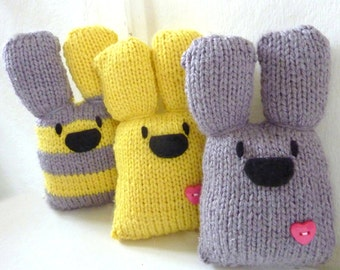 Three Bunnies Knitting Kit