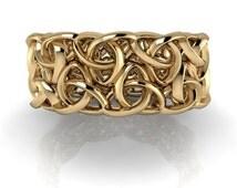 Wedding Ring Men-Wedding Ring Women-Engagement Ring-Wedding Band-Wedding Ring Gold-Trinity Knot Band Unisex