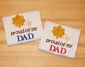 Military Major Rank shirt onesie proud of dad or mom promotion celebration personalized customized embroidered monogrammed