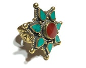 Kuchi Ring, Boho Ring, Statement Ring, Bohemian Jewelry, Adjustable Ring
