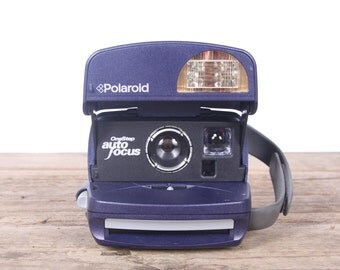 Blue Polaroid One Step Camera / Working Polaroid Camera / Onestep Polaroid Camera / Old Polaroid Camera Vintage Polaroid Camera Retro