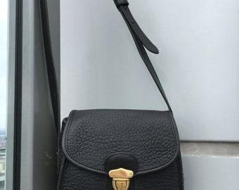 Vintage Dooney and Bourke Little Bag Black All Weather Leather