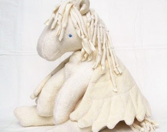 Baby Pegasus Toy, Organic Stuffed Animal, GOTS Certified Organic Cotton
