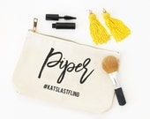 Personalized Cosmetic Bag Bridesmaid Gifts Bachelorette Party Favors Canvas Make Up Bag Custom Bridal Party Bags Toiletry Bag Travel Pouch