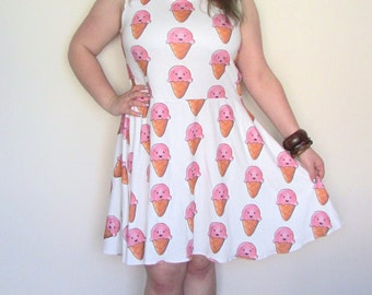 Kawaii Ice Cream Skater Dress