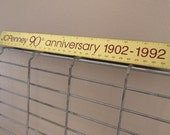 Vintage Metal Advertising Ruler J.C. Penney Anniversary Retro Collectible  1902-1992 Merchandising Memorabilia Industrial Decor