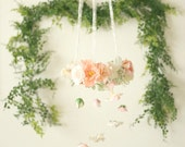 Ethereal Flower Chandelier-floral mobile for nurseries and home decor