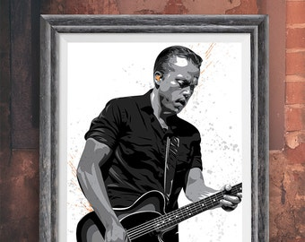 Jason Isbell Pop Art Home Decor Wall Art Poster print