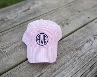 Monogram Seersucker Hat