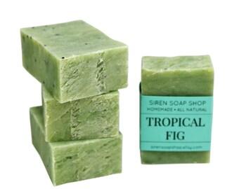Tropical Fig Guest Soap, Handmade Soap, Vegan, Fig, Kiwi, Mango