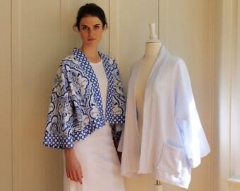 Kimono Jacket Pattern- Long or Short - PDF