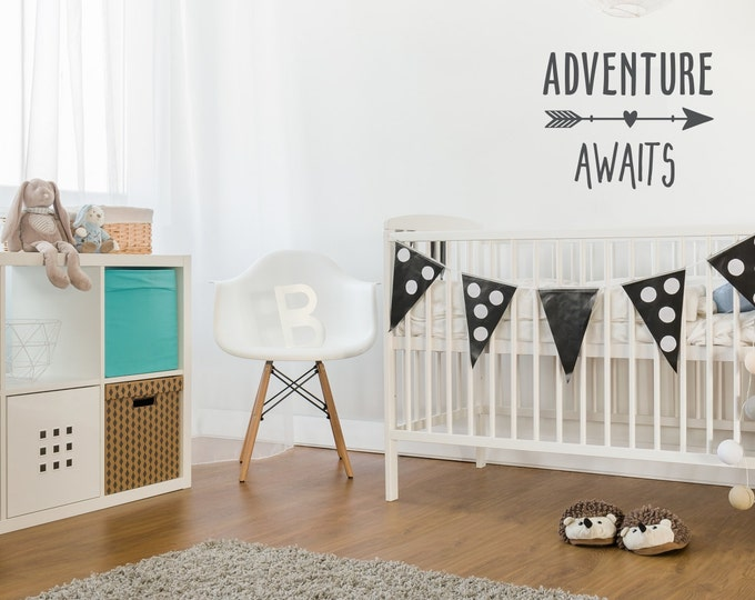 Life Is An Adventure Wall Decal | Adventure Awaits Wall Decal | Baby Boy  Nursery | Part 64