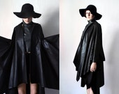 Asymmetrical Trench Coat - Deconstructed Long Blazer Avant Garde Rain Coat Black Cotton Fall Rain Jacket Women Autumn Goth Grunge Trenchcoat