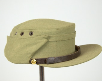 1950s Canada Military Issued Leather Chin Strap Army Hat Eastern Hats & Caps size 6 7/8
