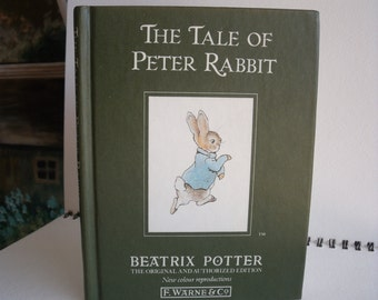The Tale Of Peter Rabbit, Beatrix Potter, Hardcover 1989 Printed in Great Britain, Children's collectible ISBN 0723234604
