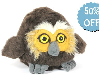 CLEARANCE SALE - Owl Stuffed Animal, Faux Fur Owl, Owl Plushie, Owl blob, Owl Toy