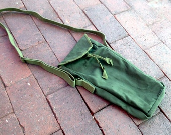 Vintage Military Equipment Long Case Storage Pouch