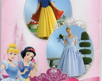 Disney Princess Dress Queen Gown Plus Size 14 16 18 20 Adult Costume Sewing Pattern 2013 Simplicity 2813