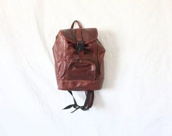 Vintage Walnut Bomber Rucksack Bag