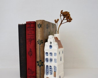 Vintage Hand Painted Dutch House Heerengracht 91 Amsterdam - Ceramic Delft Blue Canal House