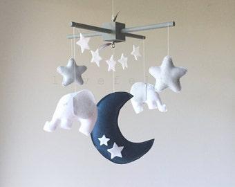 Baby Mobile - moon and stars mobile - moon mobile - baby mobile moon - moon and stars nursery