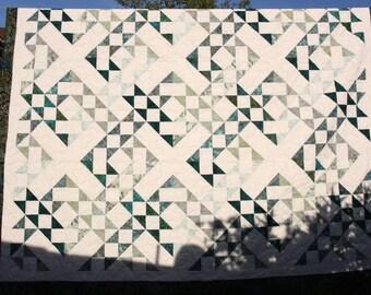 Batik Patchwork Quilt, Criss Cross, Queen / King by PingWynny